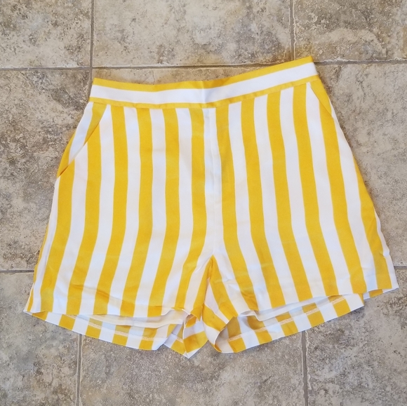Juicy Couture Pants - NEW JUICY COUTURE BLACK LABEL SATIN STRIPED SHORTS